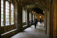 Een soort kloostergang in een van de 'colleges'.