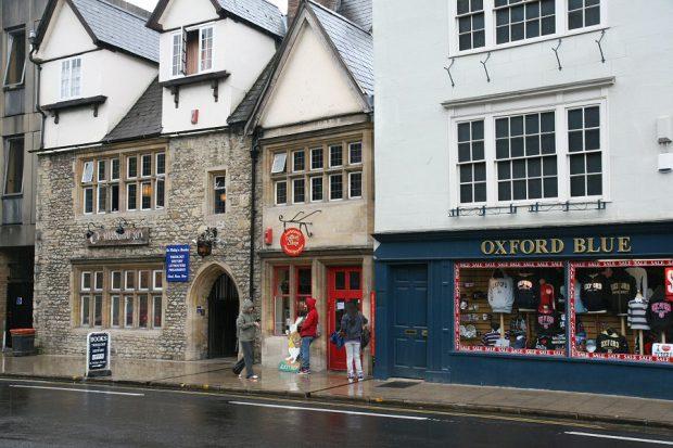 Een winkelstraat in Oxford...