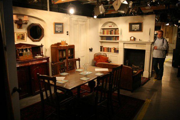 Een deel van de studio-decors.