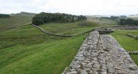 Adrians Wall, een kleine 2000 jaar geleden aangelegd door de Romeinen.