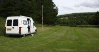Het campingveld in Glenlivet. Lekker rustig! ;-)