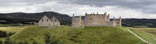 De ruïnes van een Schotse burcht.