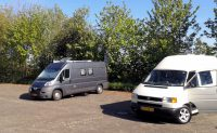 """De camperplaats op de """"berg"""" in Gildenhausen."""