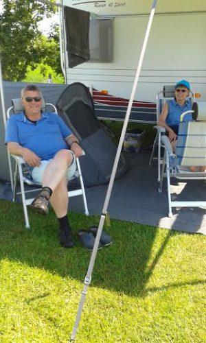 Herman PD0HF en Inge genieten van de zondagochtend.