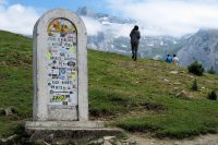 De pashoogte van de Col d'Aubisque (1.709m).