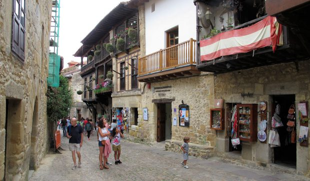 In Santillana del Mar.