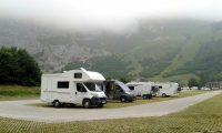 Op de grote parkeerplaats middenin het Picos de Europa.