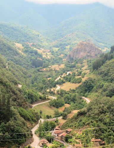 Door het natuurpark Picos de Europa.