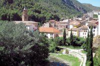 We laten het vriendelijke dorpje Arnedillo achter ons.