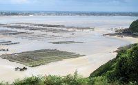 Prachtig uitzicht over de baai van Saint Jacut en de mosselkwekerijen.