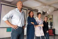 Van links naar rechts: Ronald (coach), Nicole (praktijk ondersteuner), Conny (diëtiste) en Lotte (office manager).
