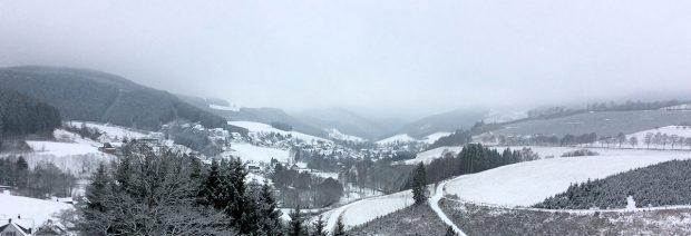 Uitzicht over het dal...