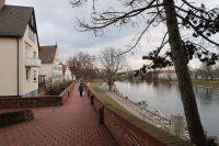 De stadsmuur langs de Donau in Ulm.