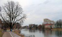Blik op de Donau in Ulm.