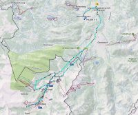 Vanuit Oberstdorf naar het zuiden, Oostenrijk in tot Baad. Dan terug naar Duitsland, naar Obermaiselstein.