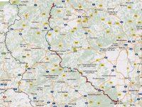 De route van de Weinstrasse, via de Hunsrück en de Moezel, naar de Eifel en het Ahrtal.