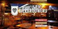 Stemmige foto, de voorkant van de website van de brouwerij.