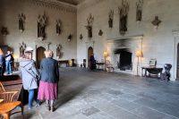 De grote hal, waar Talbot zijn landhuis/klooster binnenkwam.