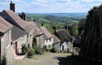 De Gold Hill in het dorpje Shaftesbury.