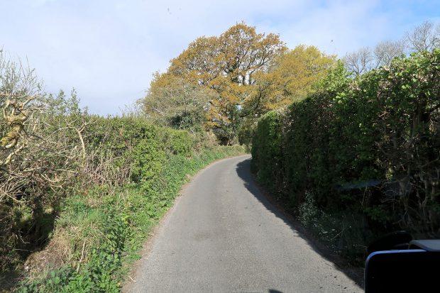Veel van die erg smalle 'single-track roads' in Dartmoor. Blij dat ik niet breder ben!