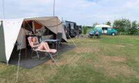Mooi weer op de camping.