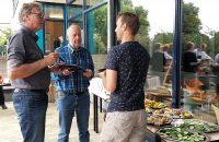 Tijdens de barbecue, met Gerard Koelewijn en Arne Hollander.