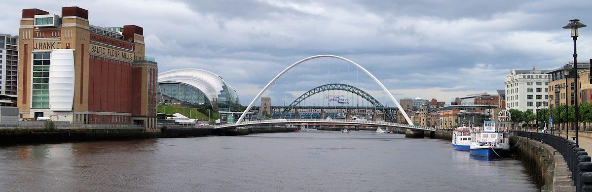 Op de voorgrond de beroemde Millenniumbridge.