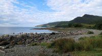 Uitzicht over de baai in Lochbuie.