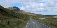 De kustroute en het vaak woeste en grillige landschap van Skye...