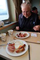 Ontbijten aan boord...