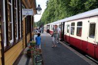 Het speciaal voor Koningin Victoria gebouwde stationnetje.