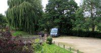 Een prachtig plekje op de parkeerplaats van de Dusty Miller Inn in Wrenbury.