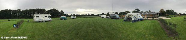 Een panoramafoto van ons veldje, gmaakt door Gerrit PA3DWC.