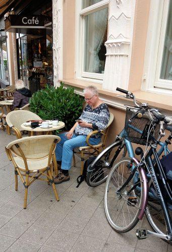 Lekker even zitten met een goede kop koffie!