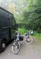 De fietsen staan al klaar voor de tocht!