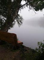 Uitzicht over het meer...