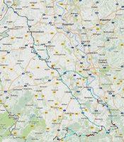 Het Duitse deel van de route, het Nederlandse deel was Kampen-Venlo v.v.