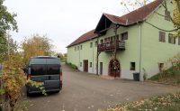 Bij wijnboer Bernard Meyer in Dangolsheim, Elzas.