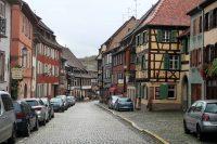 Een straatje in Obernai.