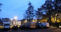De vroege ochtend, naast de Americahal in Apeldoorn.