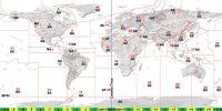 Overzicht van de CQ zone-indeling. Nederland ligt in zone 14.