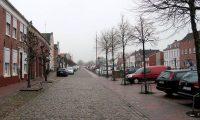 De kade langs de Alte Hafen in Weener.