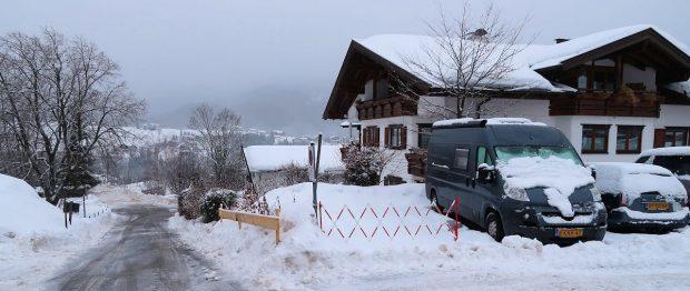 Donderdagochtend 4 januari 2018 in Riezlern, Kleinwalsertal (Oostenrijk).