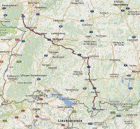 Van de Weinstrasse naar Oberstdorf.