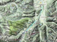 Het 14km-traject naar Oostenrijik van vandaag...