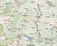 Van Oberstdorf naar Rothenburg ob der Tauer.