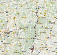 De route van woensdag 10 januari.