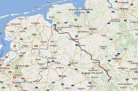 Van Polle in het dal van de Weser naar Weener in het noorden.