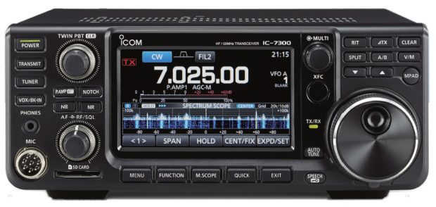 Icom IC-7300 SDR-transceiver.