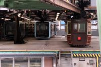 Het westelijk eindstation, tevens remise. Hier staat de 100 jaar oude Keizerlijke trein.